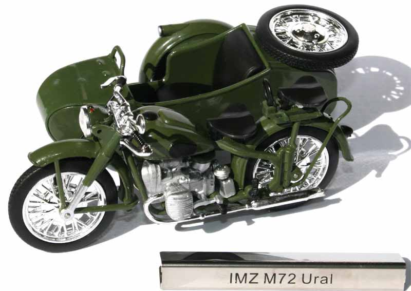 modell motorrad 1 24 imz m72 ural beiwagen 121 atlas kollektion ddr motorcycles ebay. Black Bedroom Furniture Sets. Home Design Ideas